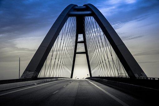 Bridge, Island, Island Fehmarn, Fehmarn, Road, Traffic