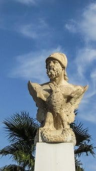Cyprus, Larnaca, Kimon The Athenian, Founder, Bust
