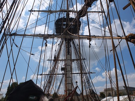 La Fayette, Frigate Hermione, Sailing Boat, Old Rig