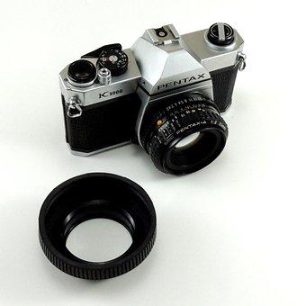 Camera, Photographic, Analog, Former, 50 Mm, Lens