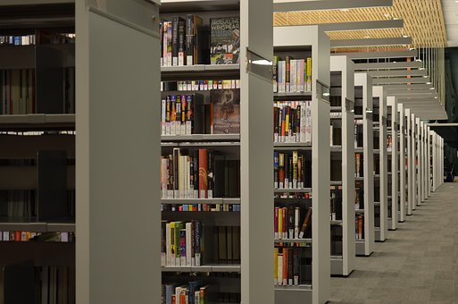 Cornell University, Library, Shelves, Books, Interior