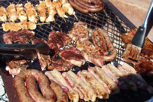 Meat Products, Sausage, Cutlets, Streaky Bacon, Grill
