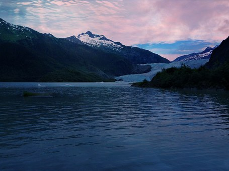 Glacier, Alaska, Mendenhall, Juneau, Ice, Landscape