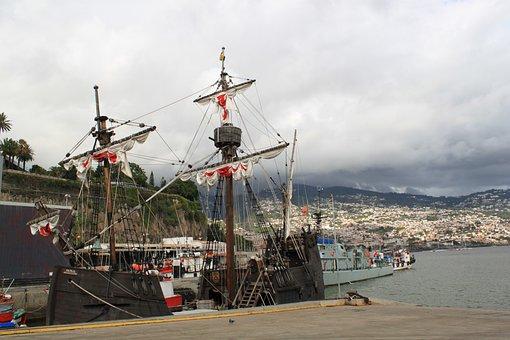 Sailing Vessel, Sail, Ship, Rigging, Masts, Cordage