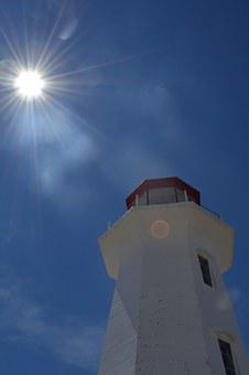 Lighthouse, Peggy's Cove, Nova, Scotia, Tourism, Canada