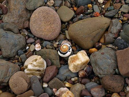 Snail, Shell, Spiral, Stones, Pattern, Colorful