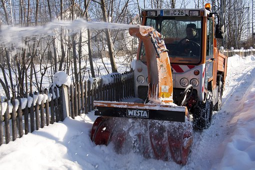 Snow Thrower, Clearing Snow, Winter, Winter Service