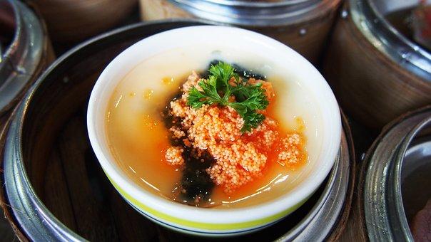 Steamed Egg, Food, China, Thai, Egg, Dim Sum