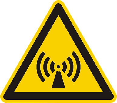 Electromagnetic Field, Warning, Attention, Yellow, Sign