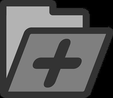 Folder, Add, Symbol, Action, Sign, Icon, Document, Data