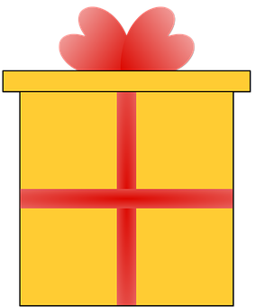 Present, Christmas, Box, Illustration, Congratulations
