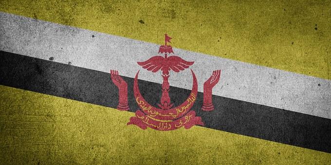 Flag, Brunei, Asia, Grunge