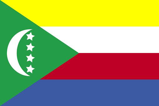 Comoros, Flag, Nation, Country, Symbol, Sign, Africa