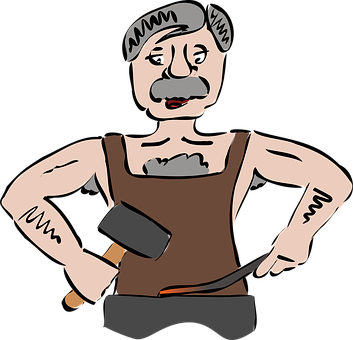 Blacksmith, Smith, Forger, People, Person, Man