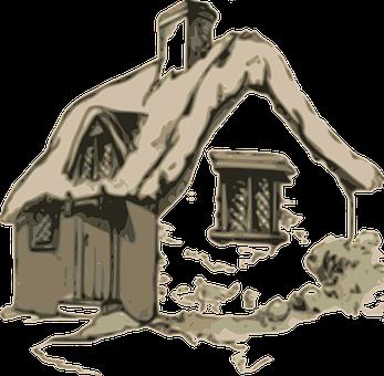 Cottage, Cabin, House, Home, Village, Rural
