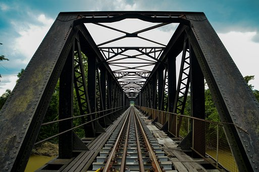 Architecture, Railway Bridge, Bridge, Train, Metal