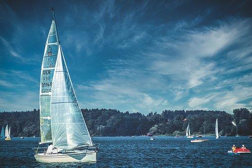 Yacht, Sailing Boat, Chiemsee, Lake, Nature, Landscape