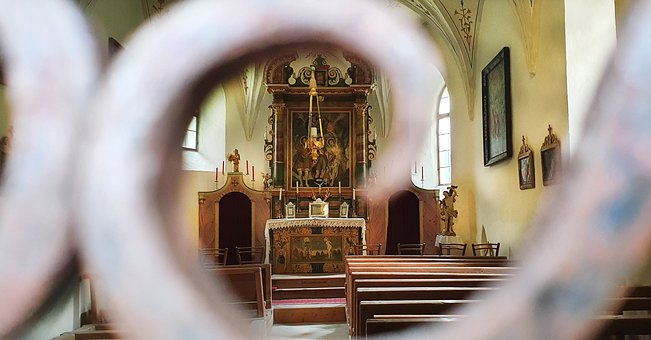 Altar, Perspective, Church, Religion