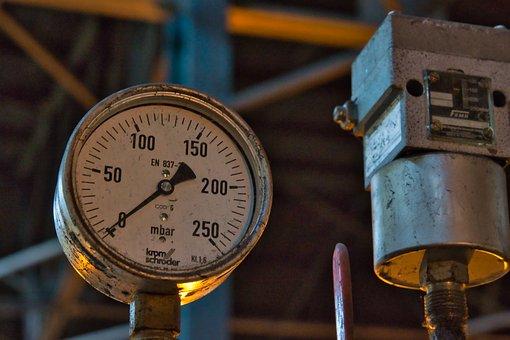 Pressure Gauge, Gauge, Pressure, Industry, Measurement
