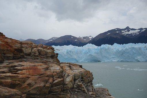 Glacier, Patagonia, Mountains, Argentina