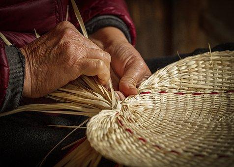 Hand, Weave, Fan