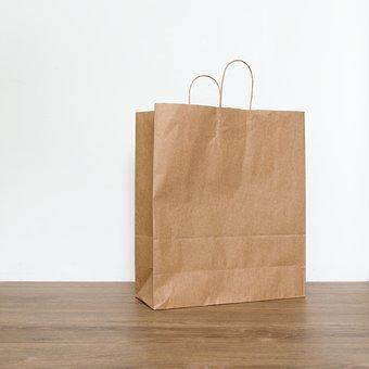 Paper Bag, Kraft, Kraft Paper, Bag, Paperbag, Paper