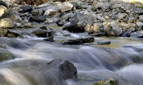River, Rocks, Water Flowing, Nature, Stream, Meditation