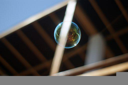 Bubble, Floating, Soap, Suspended In Air, Wind