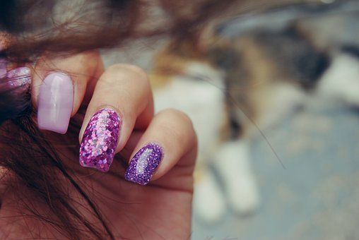 Nails, Manicure, Girl, Hand, The Hand, Nice, Glitter