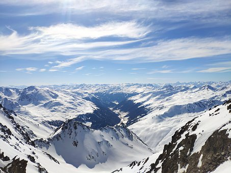 Mountains, Alpine, Snow, Ski, Sky