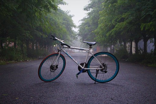 Bicycle, Morning, Fog, Bike, Cycling, Sunrise, Exercise