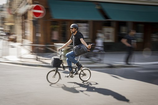 Movement, Bike, Young, Woman, Paris, Speed, Cycling