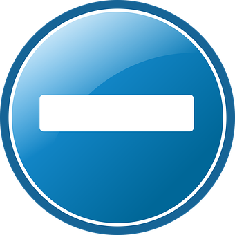 Blue, Button, Minus