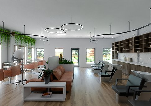 Interior, Salon, Beauty, Architecture, Barber