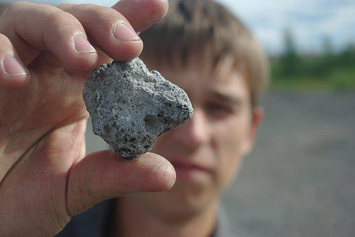 Man, Stone, Object