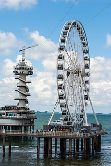 Ferris Wheel, Netherlands, Pier, Travel, Beach, Tourism