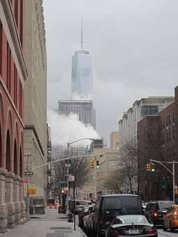 New York, Skyscraper, City, Cityscape, Smoke
