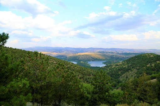 Lake, Forest, Nature, Water, Clouds, Trees, Turkey