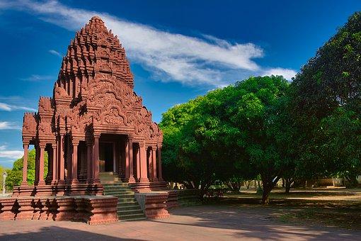 Monastery, Cambodia, India