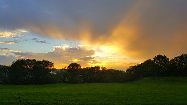 Sunset, Mood, Landscape, Color, View, Evening, Dusk