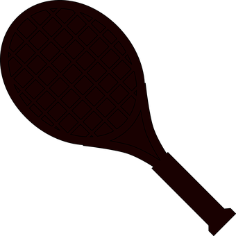 Tennis, Racket, Paddle, Sports, Silhouette, Black