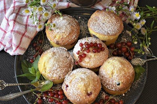 Muffins, Cake, Cupcake, Bake, Sweet, Sugar, Baked