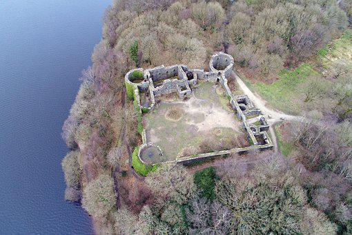 Birds Eye View, Nature, Aerial, Liverpool Castle, Drone