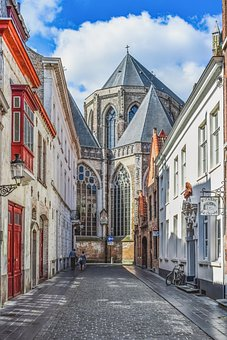 Belgium, Street, Architecture, Buildings, City, Old