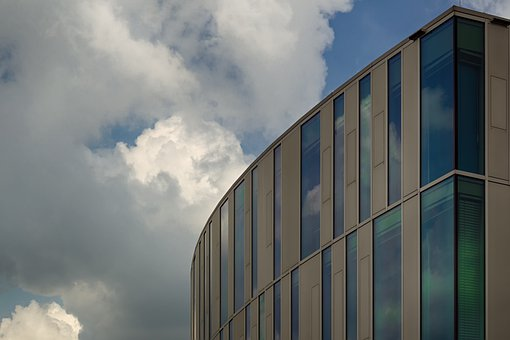 Building, Architecture, Window, Modern, Sky, Clouds