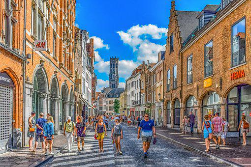 Street, Architecture, Buildings, City, Belgium