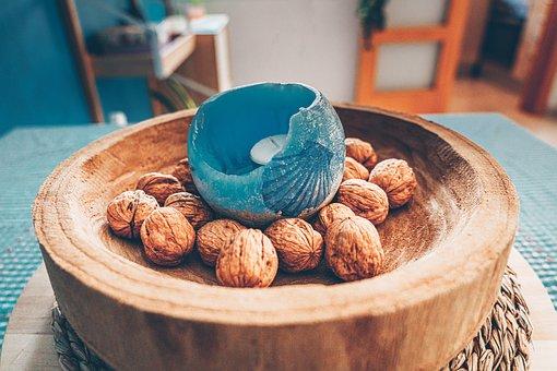 Sailing, Nuts, Centerpiece, Home, Decoration