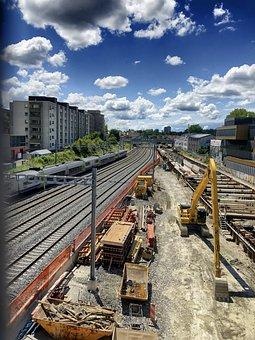 Industry, Train, Locomotive, Rails, Industrial