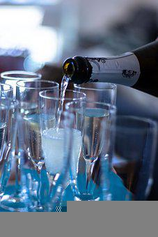 Champagne, Glasses, Celebration, Party