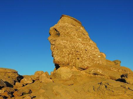 Sphinx, Bucegi, Mountain, Monument, Romania, Sky, Blue